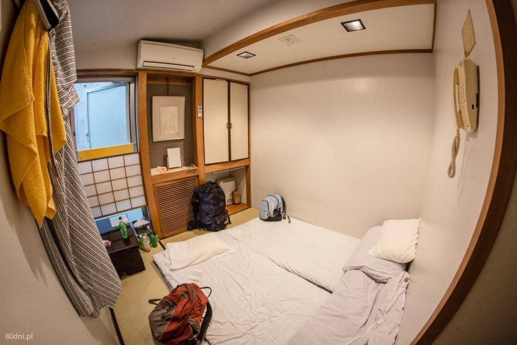 Typowy pokój w japońskim ryokanie.
