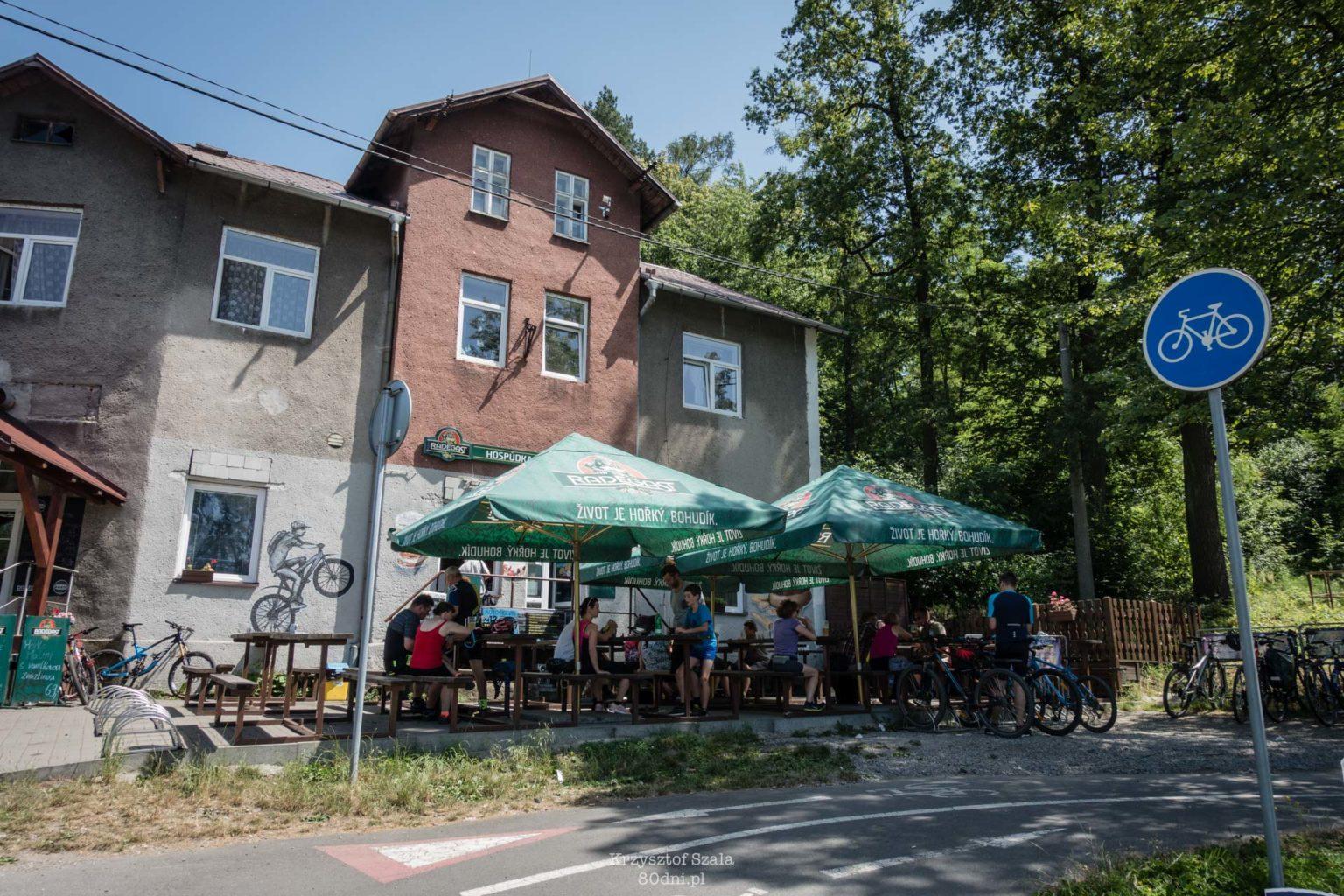 Jedna z cyklozahradek – typowych w Czechach ogródków rowerowych.