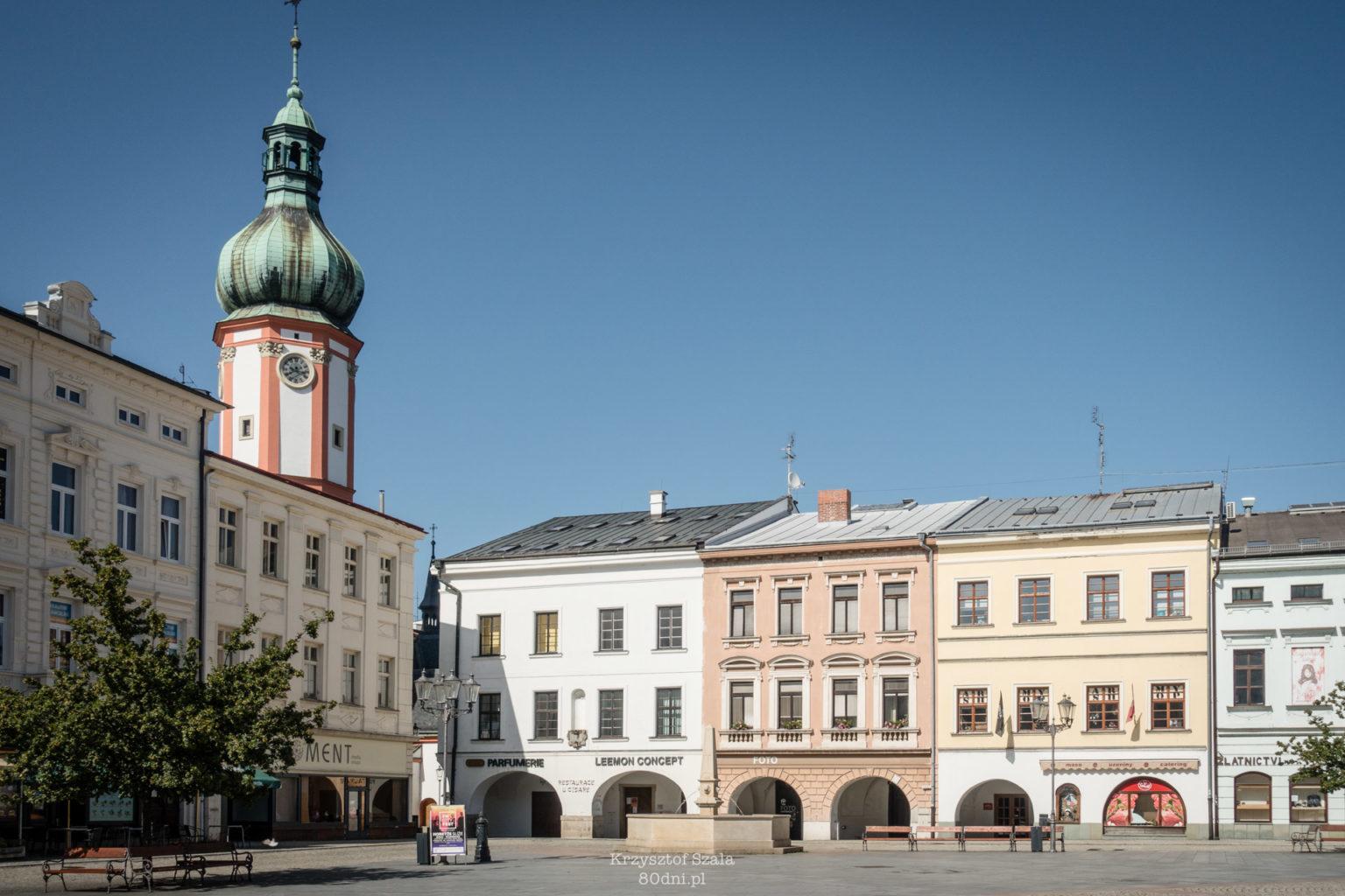 Náměstí Svobody (Plac Wolności) – czyli ryneczek w morawskiej części Frydka-Mistka.