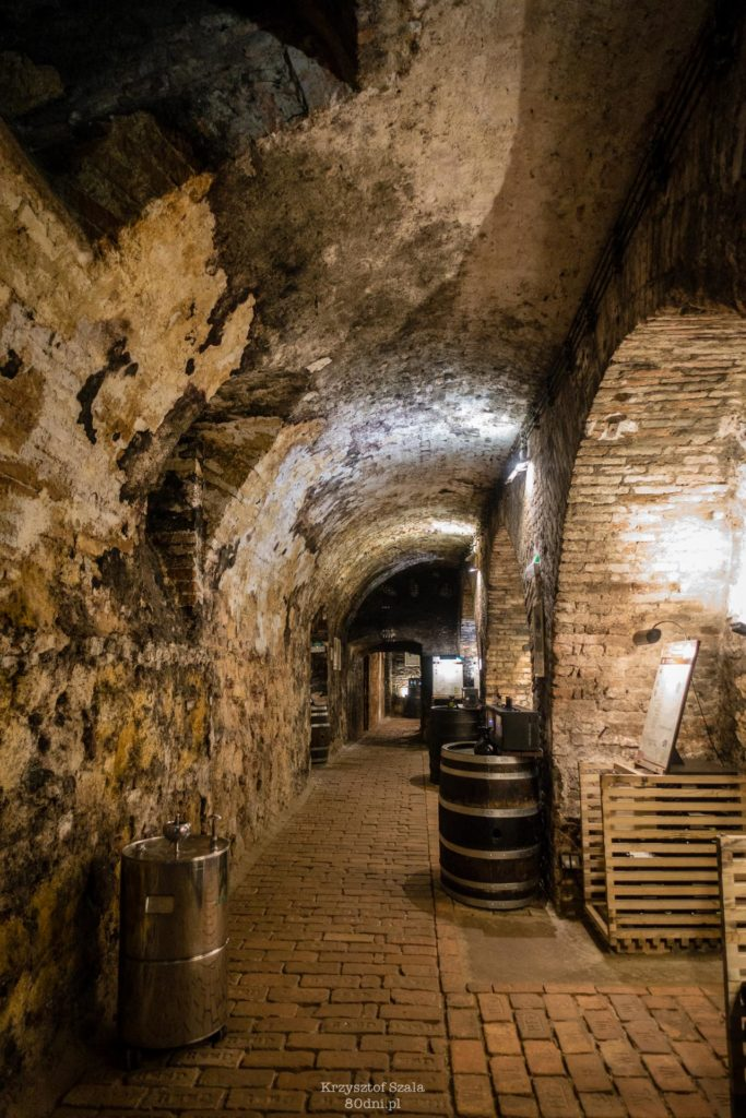 Podziemia pałacu w Valticach skrywają wspaniałe piwniczki winne.