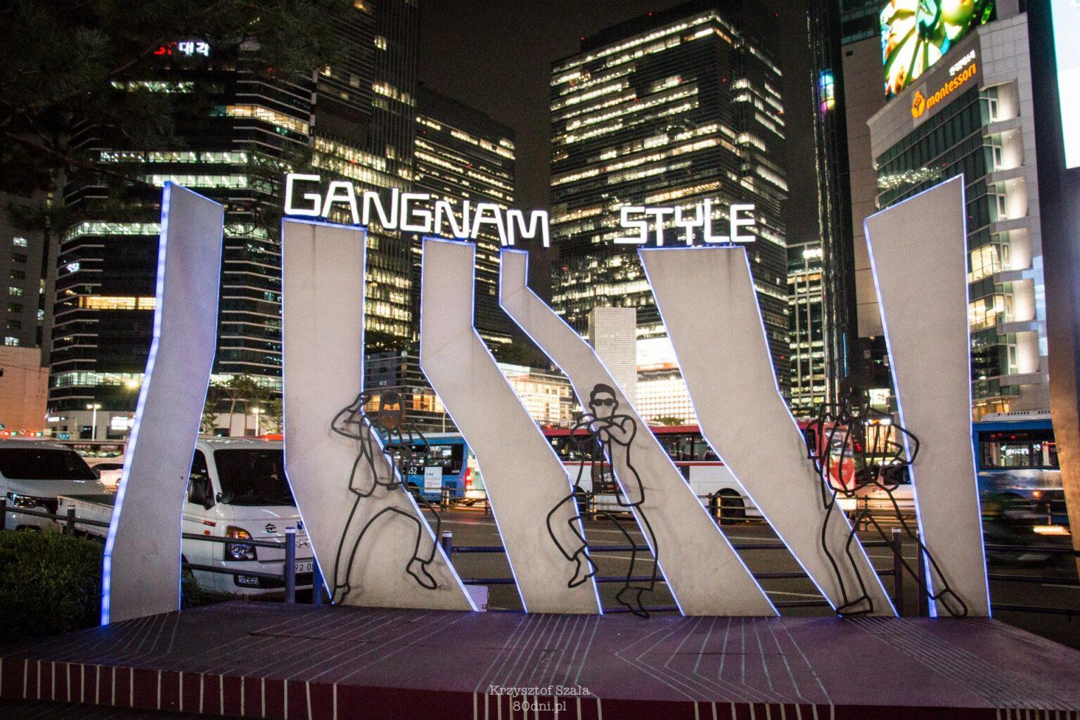"""Pomnik upamiętniający słynny utwór """"Gangnam Style""""."""